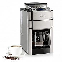 Klarstein Aromatica X, překapávací kávovar, mlýnek, skelná konvice, Aroma +, nerez ocel