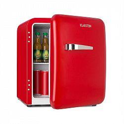Klarstein Audrey, mini retro chladnička, 48 l, 2 úrovně, A+, červená