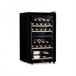 Klarstein Barossa 34 Duo, vinotéka, 2 zóny, 34 lahví, skleněné dveře, dotyková, černá