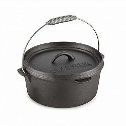 Klarstein Hotrod 45, litinový hrnec, BBQ hrnec, 4.5 qt/4 l, litina, černý