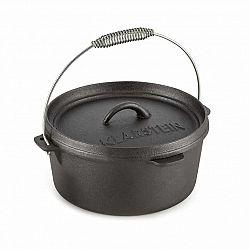 Klarstein Hotrod 85, litinový hrnec, BBQ hrnec, 9 qt/8.5 l, litina, černý