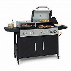 Klarstein Kingsville XL, kombinovaný gril, plyn, uhlí, pec na pizzu, 20,5 kW, 5 + 1 hořáky