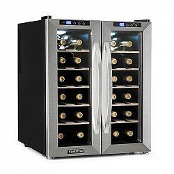 Klarstein SaloonNapa chladnička na víno, objem 67 litrů, 2 prosklené dveře, 11-18 ° C, ušlechtilá ocel