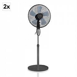 Klarstein Summerjam, 2 x stojanový ventilátor, sada dvou ventilátorů, 50 W, 3 stupně,šedá barva