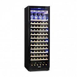 Klarstein Vinovilla Onyx Grande, velkoobjemová vinotéka, 433 l, 165 lahví, černá