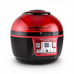 Klarstein VitAir Turbo, 1400W, 9 l, horkovzdušná fritéza, grilování, pečení, červeno-černá